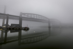 Fogbound (Robgreen13) Tags: railway firstgreatwestern uk devon cornwall rivertamar tamarbridge royalalbertbridge ikbrunel fog mist reflection