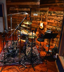 Ready to Play (Pennan_Brae) Tags: recordingsession recordingstudio microphones microphone recording drumkit drumset drum cymbal cymbals drumming musicphotography musicstudio music drummer percussion drums