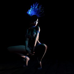 Real Crowd Pleaser (Scarlett Rhea (taking clients again)) Tags: showgirl feathers dancer stage lighting shadow