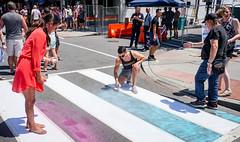2017.06.10 Painting of #DCRainbowCrosswalks Washington, DC USA 6332