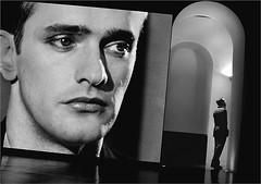 The Big Screen (shoreham_steve) Tags: photo london monochrome black white interior natural light high iso digital screen