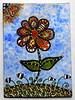 Zentangle Flower ATC (purple_24) Tags: zentangle zendoodle flower floral atc arttradingcard swapbot