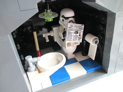 Something you never see in the movies... (Torc Larbec) Tags: stormtrooper toilet imperial base moc