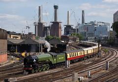 Battersea Tornado (McTumshie) Tags: 20170616 60163 a1class batterseapowerstation belmondbritishpullman lner london tornado locomotive railtour railway steam england unitedkingdom
