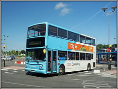 NXC 4217, University Hospital (Jason 87030) Tags: y825toh alx400 denis trident skyblue nxc nationalexpress coventry arenapark 4 2017 june unitedkingdom doubledecker wheels publictransport security sky cloud weather summer busstation stop service route flickr tag