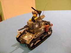 Custom Lego Stuart M3A1 Completed (tekmoc17) Tags: lego ww2 tank stuart m3a1 usa custom moc brick light war