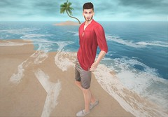 Malibu (EnviouSLAY) Tags: malibu mileycyrus miley cyrus beachscene beach scene secondlifefashion secondlifephotography shorts biege red shirt mocassins white brunette newreleases new releases stealthic ascend versov deadwool catwa bento belleza tmd themensdepartment the mens department mensmonthly mensevent mensfair mensfashion monthlymens monthlyevent monthlyfair monthlyfashion monthly event fair fashion pale male gay blogger secondlife second life photography