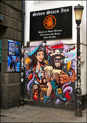 Seven Stars, More Next Door! (Canis Major) Tags: sevenstars bristol pub fleece stereomcs mural pirates realale camra