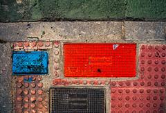 Urban Mondrian (Walimai.photo) Tags: color colour blue azul red rojo green verde mondrian suelo floor lumix lx5 panaxonic street calle salamanca spain españa