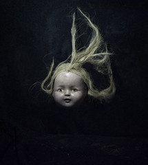 Dolly (Deadsketch) Tags: levitation doll dollhead dark occult creepy surreal sureal hair cool tone object scary vintage old haunted floating head decapitated
