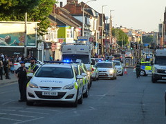 Riot Police on Belgrave Road Leicester 18 June 2017 (KiranParmar) Tags: riot police belgrave road leicester 18 june 2017