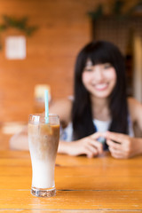 Ice cafe latte on table (Apricot Cafe) Tags: img39304 2024years asia asianandindianethnicities cafe japan japaneseethnicity japaneseculture katoricity sawarakatori sigma35mmf14dghsmart tokyojapan beautifulwoman blackhair candid carefree charming cheerful chibaprefecture coffee colorimage copyspace culture day drink enjoyment foodanddrink happiness historicalgeographiclocation horizontal indoors latte lifestyles longhair lunch milk oneperson onlyjapanese onlywomen onlyyoungwomen people photography relax restaurant selectivefocus smiling sustainable table toothysmile tourism tourist traveldestinations waistup women youngadult katorishi chibaken jp