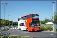 NXWM 4129 (Jason 87030) Tags: alx400 dennis trident 4 arenapark coventry westmidlands red decker universityhospital walsgrave 2017 june 4129 y721toh