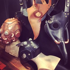 #plaguedoctorcostume #plaguemask #plaguedoctor #leathermask #steampunkmask (tovlade) Tags: face mask cyberpunk cyber goth make up goggles girl punk postapocalyptic postapocalypse black steampunk leather hand made larp cybergoth dieselpunk plague doctor