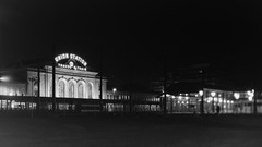 Denver Union Station (Christopher J May) Tags: denver colorado co denverunionstation train railroad night largeformat 4x5 film ishootfilm filmisnotdead