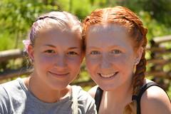 Braided friends (radargeek) Tags: oklahoma 2017 okczoo okc zoo braid purplehair redhair braids piercings freckles