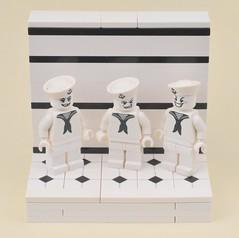 Three Sailors (MinifigNick) Tags: lego sailor afol minifig minifigure minifignick
