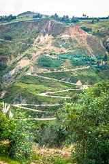 The climb near the river outside Macrabal Peru.