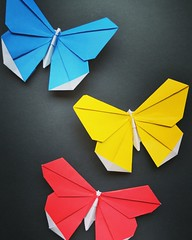 Origami butterflies (Nick_O_Gami) Tags: origami folding paper paperfolding paperart art butterfly