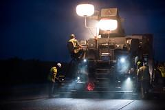 D6404_CM-16 (MoDOT Photos) Tags: d6404 bycathymorrison contractor highway54 nightwork workzone safetygear hardhats missouri callawaycounty chesterbross boots safetyshirts reflective night rural asphalt heavyequipment traffic roadway