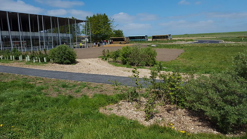 Former bus turning area returned to grass, Stonehenge