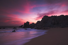 cotton candy clouds (Andy Kennelly) Tags: cotton candy sunset seascape pink beach waves rocks set reflections