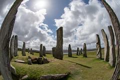 Standing Stones (Evoljo) Tags: scotland uk sky clouds thehighlands nikon d500 callanish standingstones fisheye isleoflewis