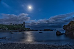 Dunure Castle Moonlight (Photeelover) Tags: dunure dunurecastle landscape castle seascape night moon moonlight ayrshire sea clouds rocks