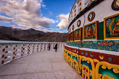 Santhi Stupa - Ladakh, India (Kartik Kumar S) Tags: santhi stupa ladakh leh india architecture white geometry canon 600d tokina 1116mm places people travel landscape