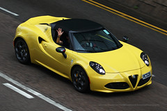 Alfa Romeo, 4C Spider, Wan Chai, Hong Kong (Daryl Chapman Photography) Tags: rc528 alfaromeo 4c italian pan panning wanchai car cars auto autos automobile canon eos 1d mkiv is ii 70200l f28 road engine power nice wheels rims hongkong china sar drive drivers driving fast grip photoshop cs6 windows darylchapman automotive photography hk hkg bhp horsepower brakes gas fuel petrol topgear headlights worldcars daryl chapman darylchapmanphotography