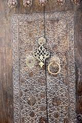 Doorway, Baha ad-Din Naqshband, Bukhara (jozioau) Tags: variosonnart282470 doorway walnut carved brass knockers sufi mosque bukhara