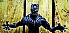 BLACK PANTHER (THE AMAZING KIKEMAN) Tags: hasbro action figures marvel legends comics black panther wakanda tchalla chadwick boseman studios