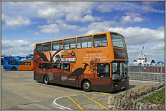 'RYDE' ing with Dinosaurs........... (Jason 87030) Tags: b7tl volvo dinosaur livery brown orange may 2015 y749tgh 1949 canon eos 50d bus ryde island iow station sunny morning plaxton president southernvectis hovercraft flowerbed public transport vehicle doubledecker explorer