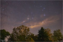 Early Morning Antares and Scorpius (Tom Wildoner) Tags: tomwildoner leisurelyscientistcom leisurelyscientist antares scorpius scorpio trees clouds diffraction spikes nature may 2017 weatherly pennsylvania stars science astronomy astrophotography astronomer tiffen canon canon6d tripod outerspace environment deepspace