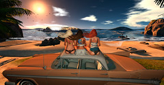 Tripolar (__ Mariah1Moon __) Tags: second life secondlife sl m1m savoir faire look fashion beach playa coche car nextmotors sam tattoos gente