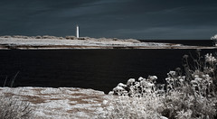 The Lighthouse (Lolo_) Tags: infrared ir 35mm carro couronne phare lighthouse côtebleue mer méditerranée rocks rochers seaside shore france provence