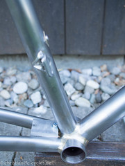 A fillet brazed road bike ready for the painter