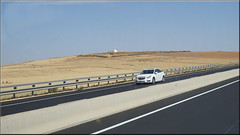 two white sanctuaries (mhobl) Tags: car morocco maroc autoroute marabut
