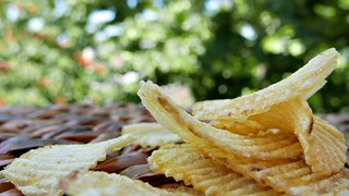 party time - chips in the garden