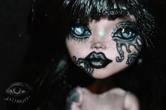 Obsidian (saijanide) Tags: monster high doll custom mh ooak repaint faceup customized dolls draculaura great scarrier reef octo octopus ocean mermaid sea witch saijanide artist tentacle tentacles tattoo dark goth gothic