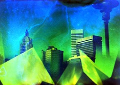 (mikehip) Tags: doubleexposure 35mm holga kodak color film filmsoup filmisnotdead providence rhodeisland experiment catchycolors selfdeveloped building sky sculpture