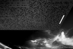 starship (reiernilsen) Tags: bw canon 5dmkiii reiernilsen oslo norway norge osloskatepark stavangergata arkitektur urban city sky clouds light lines ceiling