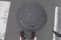 Assorted Kuroiso manholes-2 (Stop carbon pollution) Tags: japan 日本 honshuu 本州 touhoku 東北 fukushimaken 福島県 kuroiso 黒磯