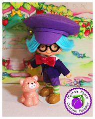 Custom Plum Puddin Boy Doll 20 (Plum's Place) Tags: plum puddin plumpudding plumpuddin strawberryshortcake shortcake ooakdoll customdoll 80stoy 80sretro