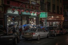 Chinatown, San Francisco (karinavera) Tags: travel sonya7r2 sanfrancisco street umbrella people chinatown night cinematicphotography