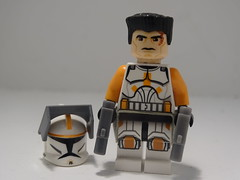 Commander Cody with scar painted (501st DESIGNS) Tags: clone commander cody star wars phase 1 scar lego custom clonewars