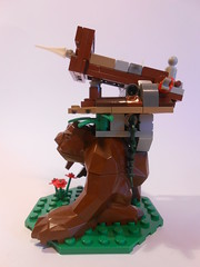 Earthen Ballista (TheHunBear) Tags: toy toys lego moc castle fantasy warmachine