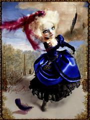 Le Menuet de la Plume (NylonBleu) Tags: monster high doll poupée mh ooak custo custom repaint nylonbleu kamarza menuet feathers plusmes blue bleu