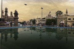 Reflection of Golden Past (Arpa Ghosh) Tags: charminar history laad bazar market telangana hyderabad tourism india canon 121clicks heritage nizam qutub