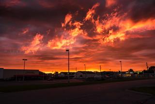 Sunset yesterday @ Casselman, ON